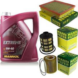 MANNOL-5-L-Extreme-5W-40-Motor-Ol-MANN-Filter-Saab-9-3-YS3F-1-9-TID-Kombi