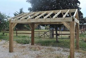Image Is Loading Wooden Garden Shelter Frame Hot Tub Car Port