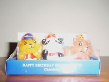 Child's Birthday  Bear Multi-Color Candles... Party Cake Colors !! Ships Free !!