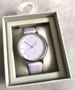 Ehrlichkeit Next Women's Beautiful Light Purple Minimalist Large Face Watch Brand New In Box Weitere Rabatte üBerraschungen Uhren & Schmuck
