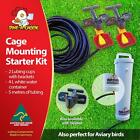 Dine a Chook Cage Mounting Drinker Kit #1 - Two Cup, 4 Litre - Chicken Drinker