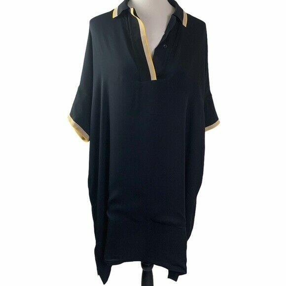 Rag and Bone Dana Silk Tunic Size 0 Black - image 4