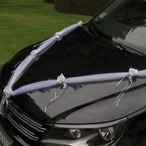 Autogirlande Rosen Schmuck Hochzeitsauto Autodeko Hochzeit Auto