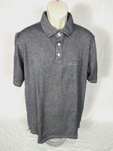 Cypress-Club-Men-039-s-Polo-Golf-3-Button-Shirt-Short-Sleeve-Pocket-Gray-Sz-M-L-XL