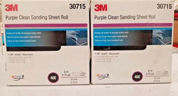 "2x 3m 30715 Purple Clean Sanding Sheet Roll 40e 2.75"" X 13.12yd Modelli Alla Moda"