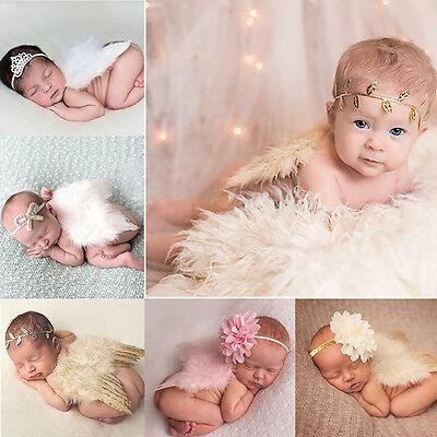 Newborn Baby Girls Boys Angel Wings Costume Photo Photography Prop  wang FjWBv