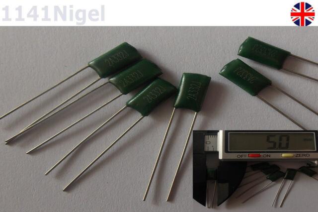 33nF Audio Capacitor Mylar Polyester Film 100V Pack of 20
