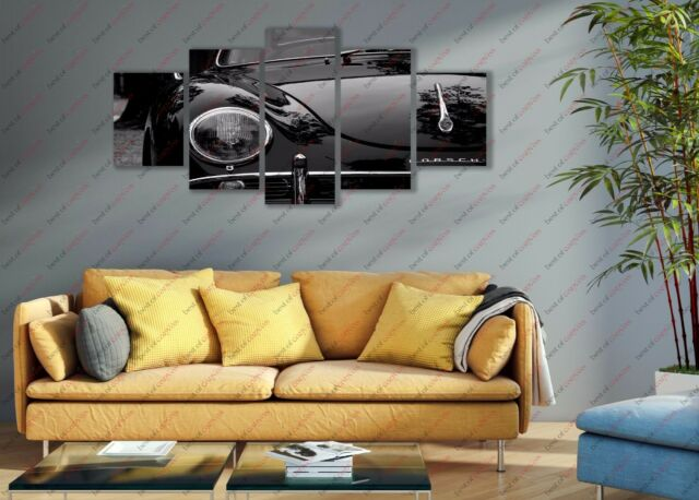 Auto Race Sports Car 5 Piece Panel Frame Poster Canvas Print Home Decor Wall Art