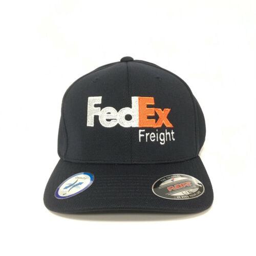 Nouveau FedEx Freight Cap Flexfit Chapeau Yupoong Cool /& Dry Pique Mesh Marine foncé L//XL
