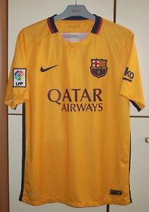 75e12d7d02b FC BARCELONA SPAIN 2015 2016 AWAY FOOTBALL SHIRT JERSEY NIKE SIZE M ...