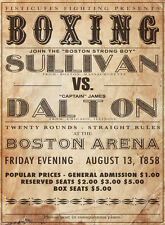 "16x20"" CANVAS Decor.Room design art print..Boxing Sullivan vs Dalton.6069"