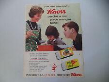 advertising Pubblicità 1961 BRODO KNOR
