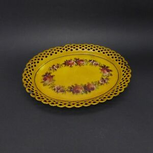 Small-Tray-in-Sheet-Metal-Painted-Wing-Reticulated-Second-half-of-Xixth-Century