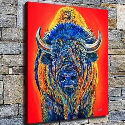 12 X16 Hairy Buffalo Paintings Hd Canvas Print Home Decor Room Wall Art Picture Ebay