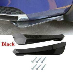 2Pcs Car Accessories Bumper Spoiler Rear Lip Angle Splitter Diffuser Protector