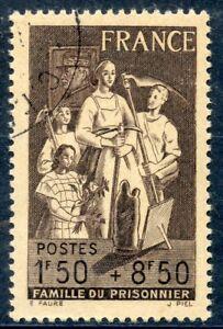 Stamp / Timbre De France Oblitere N ° 585 Famille Du Prisonnier Ventes De L'Assurance Qualité