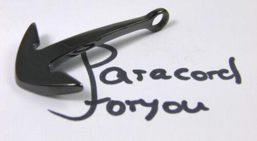 surfer Armband-Leder Bracelet Stainless Steel Anchor Clasp for Parachute Cord