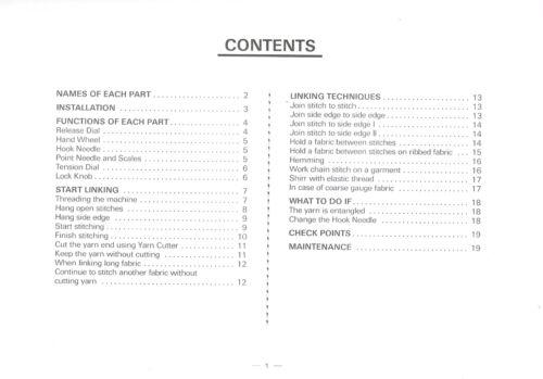 DL1000 LECTROLINK Linking Machine INSTRUCTION MANUAL *NEW* Mfg Original