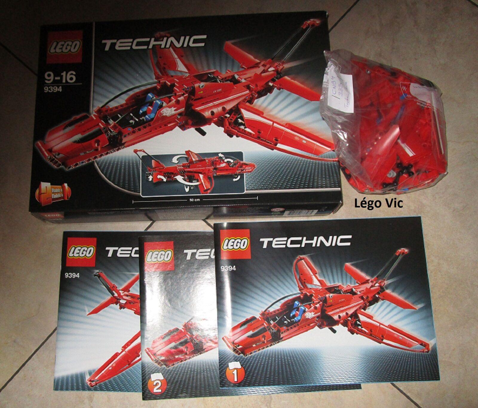 online economico Lego 9394 Technic Jet Plane Plane Plane Avion Supersonique + notice + boite complet de 2012  la vostra soddisfazione è il nostro obiettivo