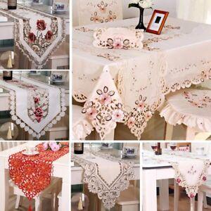 Vintage-Bordado-Floral-Borla-bordes-corredor-de-la-tabla-cubierta-de-tela-de-la-decoracion-del-hogar