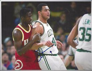 Autographs-original Genteel Alaa Abdelnaby Signed 8x10 Autographed Photo Boston Celtics Picture Nba 76ers Supplement The Vital Energy And Nourish Yin