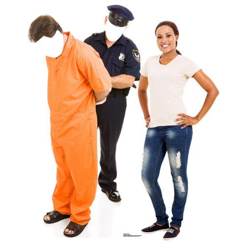 PRISONER /& POLICEMAN STAND-IN Lifesize CARDBOARD CUTOUT Standin Standup Standee