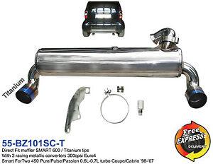 Sportauspuff-Auspuff-fuer-SMART-ForTwo-Doppelendrohren-Duplex-0-6L-0-7L-Turbo