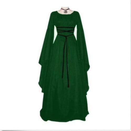 Womens Vintage Medieval Dress Renaissance Gothic halloween Costume Gown Dress