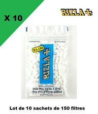 Rizla + lot de 10 sachets de 150 Filtres Rizla SLIM 6 MM