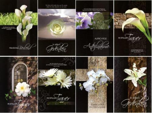 50 Trauerkarten Trauerkarte Trauer Beileidskarten Kondolenzkarten 811680 TA
