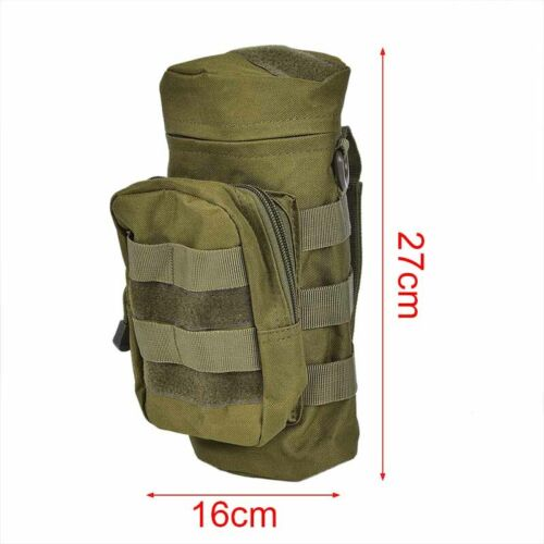 Tactical Military Water Bag Water Bottle Kettle Pouch Holder For Camping`Bicycle