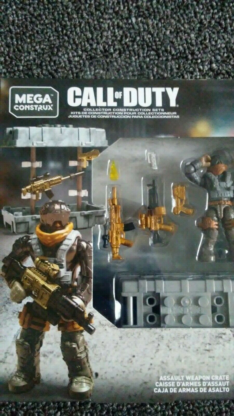 FVF99 43 Pieces Mega Construx Call of Duty ASSAULT WEAPON CRATE