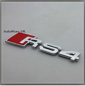 RS4 Badge Emblem Decal Sticker Logo A4 S4 RS Audi boot lid rear trunk tailgate