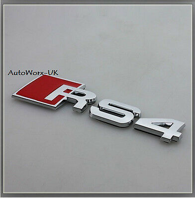 RS4 Badge Emblem Decal Sticker Logo A4 S4 RS S Audi boot lid rear trunk tailgate