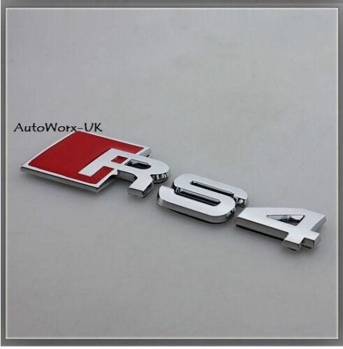 RS4 Insignia Emblema Decal Sticker Logo A4 S4 RS Audi Tapa de arranque de tronco posterior del portón trasero