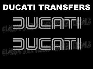 Ducati-Classic-Tank-Transfers-Decals-Stickers-Motorcycle-Sold-as-a-Pair-Silver