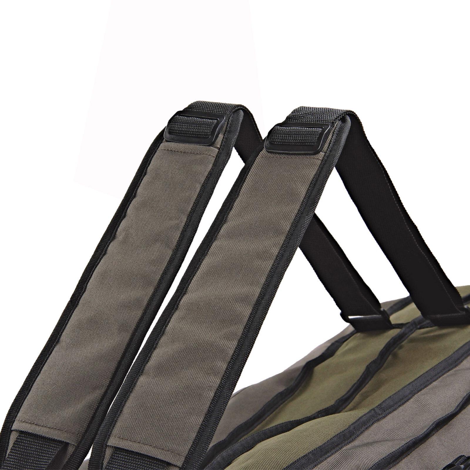 Gepolsterte Rutentasche 3 Fächer 1,30-1,70m 600D Nylon Futterale Angel-Taschen