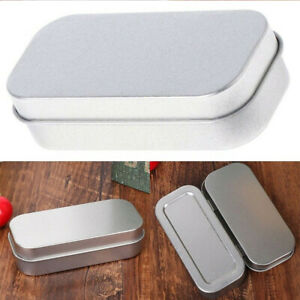 Small Sealed Container Jewelry Tin Empty Case Metal Storage Box Coin Candy Keys