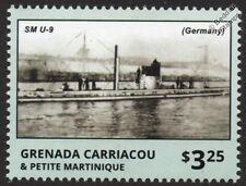 SM U-9 Imperial German Navy U-Boat Submarine WWI Warship Stamp