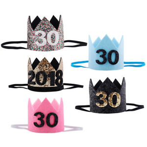 Image Is Loading 30th Glitter Birthday Crown New Year 039 S