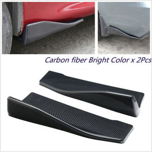 2X-Carbon-Fiber-Car-Bumper-Spoiler-Rear-Lip-Canard-Diffuser-Wrap-Angle-Splitters