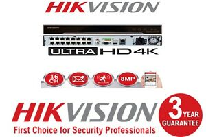 16-CHANNEL-4K-HIKVISION-DS-7616NI-K2-16P-8MP-IP-16-POE-CCTV-NVR-100-UK-SPEC