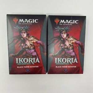MTG-Ikoria-Lair-of-Behemoths-THEME-Booster-PACK-BLACK-35-Cards-Sealed-Lot-Of-2