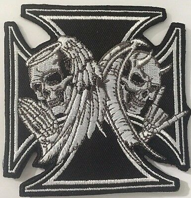 Maltese Cross A031003 embroidered cloth patch