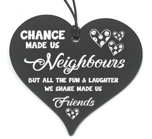 Pleasing Details About 687 Plaque Neighbour Friend Gift Shabby Chic Hanging Heart Birthday Christmas Home Interior And Landscaping Ponolsignezvosmurscom