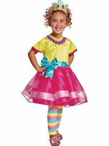 Disney Toddler Girls Pink Yellow Fancy Nancy Glitter Costume Dress Ebay