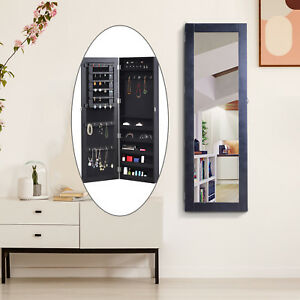 Mirrored Jewelry Cabinet Armoire Hanging Wall Mount