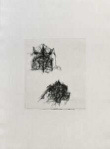 Rolf Sackenheim: Abstrakte Komposition I. [19]71. Signierte Original-Radierung.