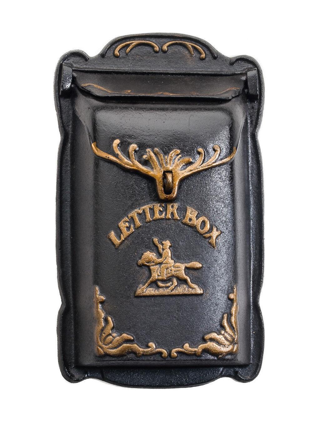 Nostalgie Briefkasten Pferd Wandbriefkasten Gusseisen Postkasten antik-Stil
