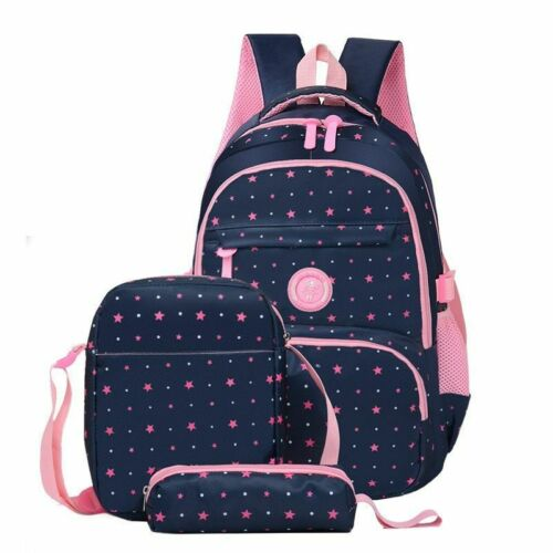 Women/'s School Bag Set Backpack Pouches Cases Star Printed Pattern Rucksack Bags